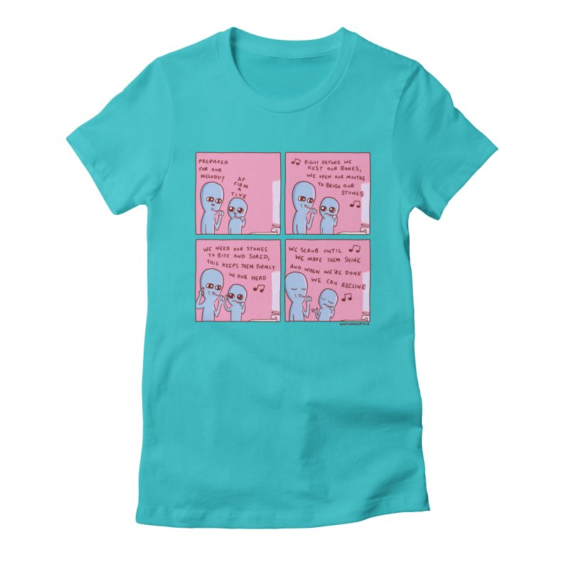 STRANGE PLANET: MOUTH STONE MELODY Women's T-Shirt by Nathan W Pyle