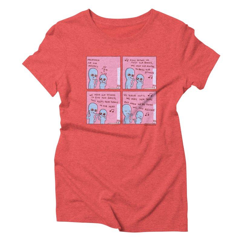 STRANGE PLANET: MOUTH STONE MELODY Women's Triblend T-Shirt by Nathan W Pyle