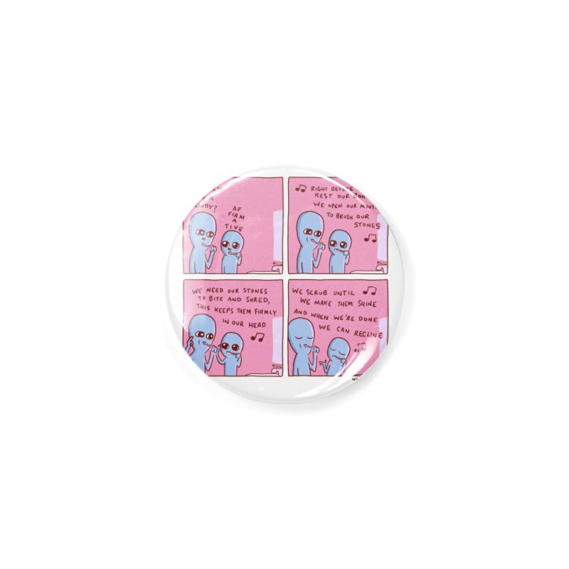 STRANGE PLANET: MOUTH STONE MELODY Accessories Button by Nathan W Pyle