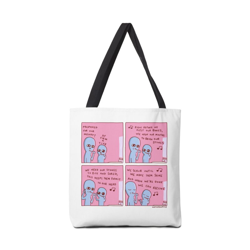 STRANGE PLANET: MOUTH STONE MELODY Accessories Tote Bag Bag by Nathan W Pyle