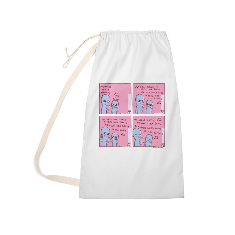 STRANGE PLANET: MOUTH STONE MELODY Accessories Laundry Bag Bag by Nathan W Pyle