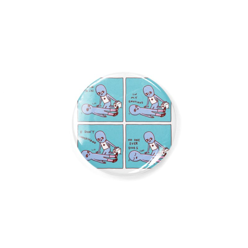 STRANGE PLANET: WHERE IS YOUR PAIN / IN MY EMOTIONS Accessories Button by Nathan W Pyle