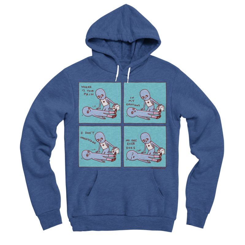 STRANGE PLANET: WHERE IS YOUR PAIN / IN MY EMOTIONS Women's Sponge Fleece Pullover Hoody by Nathan W Pyle