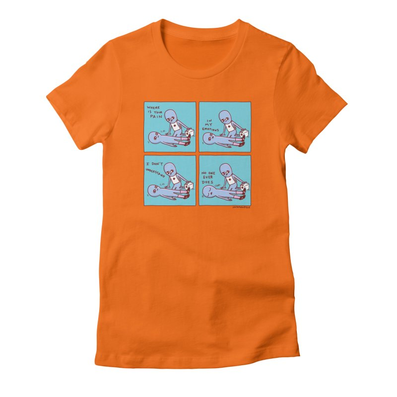 STRANGE PLANET: WHERE IS YOUR PAIN / IN MY EMOTIONS Women's T-Shirt by Nathan W Pyle