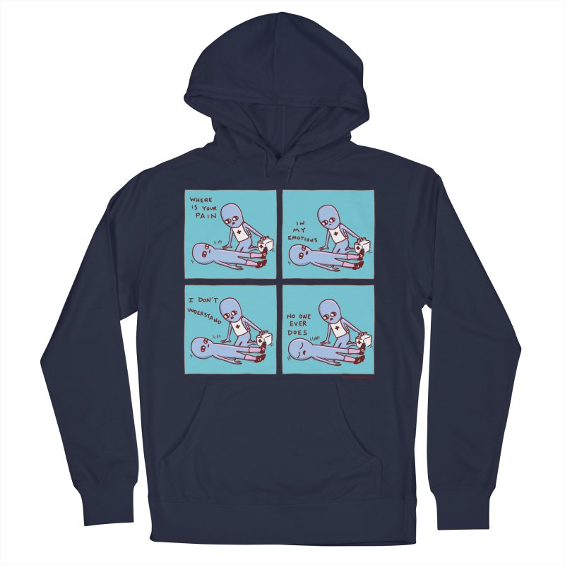 STRANGE PLANET: WHERE IS YOUR PAIN / IN MY EMOTIONS Men's French Terry Pullover Hoody by Nathan W Pyle