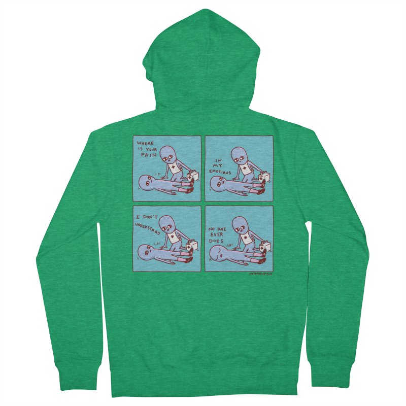 STRANGE PLANET: WHERE IS YOUR PAIN / IN MY EMOTIONS Men's Zip-Up Hoody by Nathan W Pyle