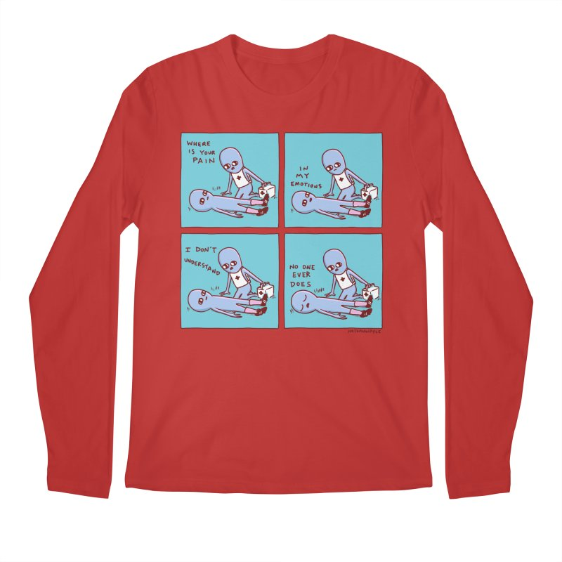 STRANGE PLANET: WHERE IS YOUR PAIN / IN MY EMOTIONS Men's Longsleeve T-Shirt by Nathan W Pyle