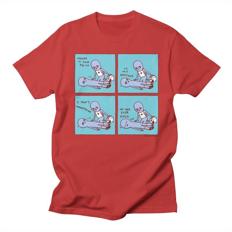 STRANGE PLANET: WHERE IS YOUR PAIN / IN MY EMOTIONS Men's Regular T-Shirt by Nathan W Pyle