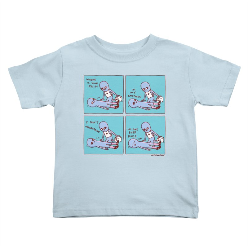 STRANGE PLANET: WHERE IS YOUR PAIN / IN MY EMOTIONS Kids Toddler T-Shirt by Nathan W Pyle