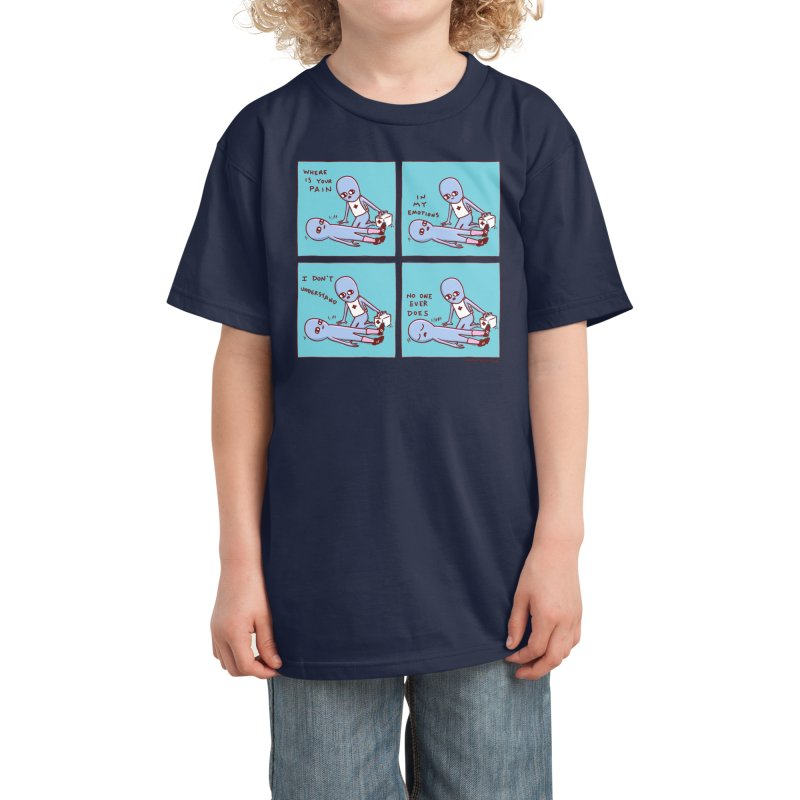 STRANGE PLANET: WHERE IS YOUR PAIN / IN MY EMOTIONS Kids T-Shirt by Nathan W Pyle Shop | Strange Planet Store | Thread