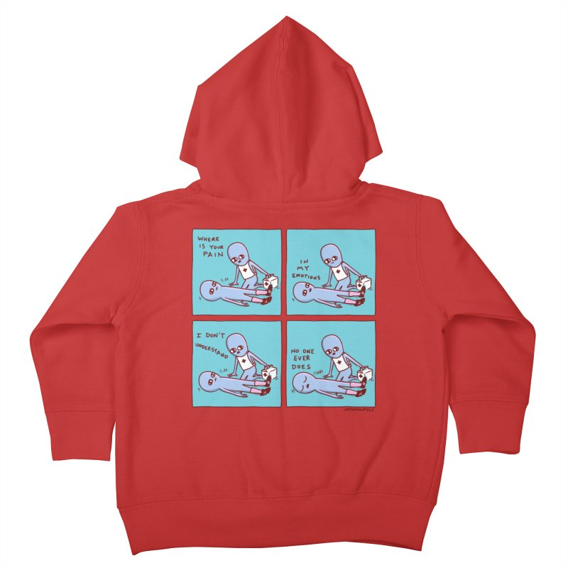STRANGE PLANET: WHERE IS YOUR PAIN / IN MY EMOTIONS Kids Toddler Zip-Up Hoody by Nathan W Pyle