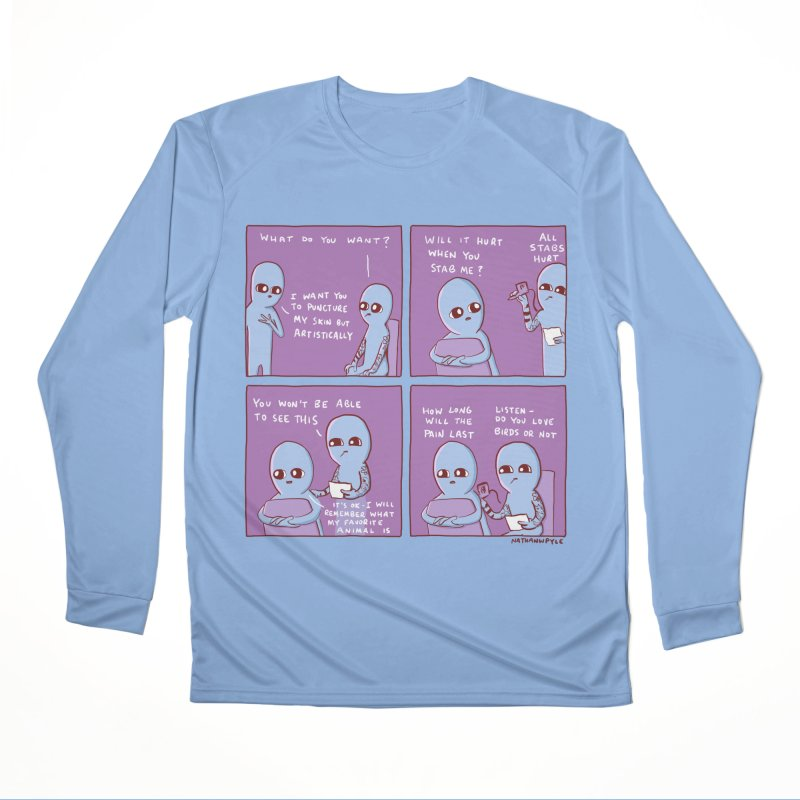 STRANGE PLANET: I WANT YOU TO PUNCTURE MY SKIN BUT ARTISTICALLY Men's Longsleeve T-Shirt by Nathan W Pyle