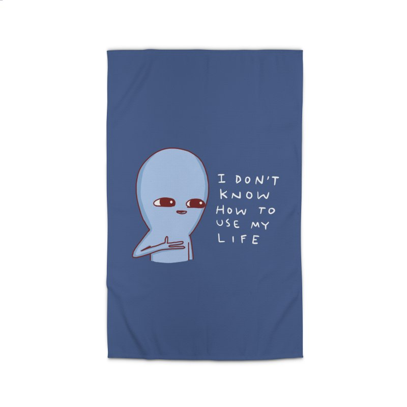 STRANGE PLANET SPECIAL PRODUCT: I DON'T KNOW HOW TO USE MY LIFE Home Rug by Nathan W Pyle