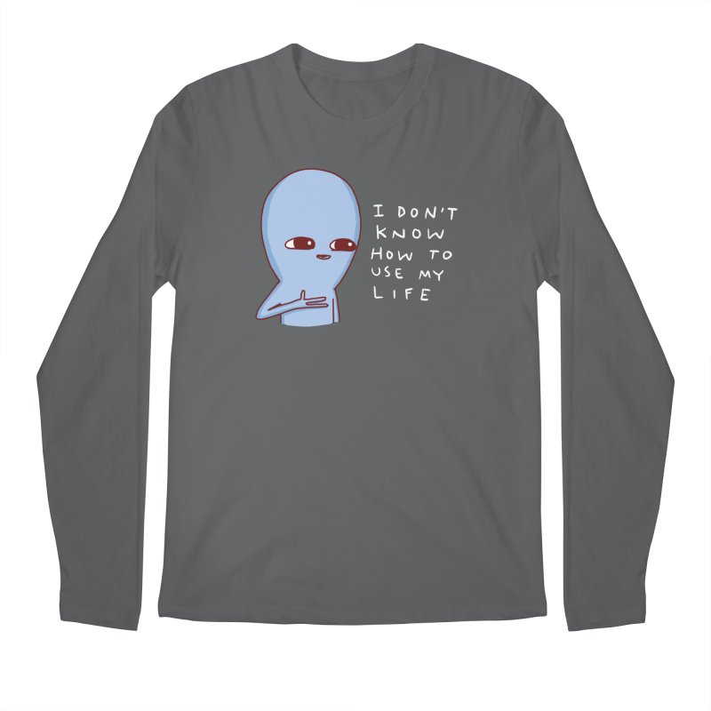 STRANGE PLANET SPECIAL PRODUCT: I DON'T KNOW HOW TO USE MY LIFE Men's Regular Longsleeve T-Shirt by Nathan W Pyle
