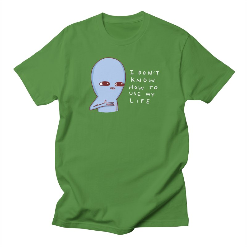 STRANGE PLANET SPECIAL PRODUCT: I DON'T KNOW HOW TO USE MY LIFE Women's Regular Unisex T-Shirt by Nathan W Pyle