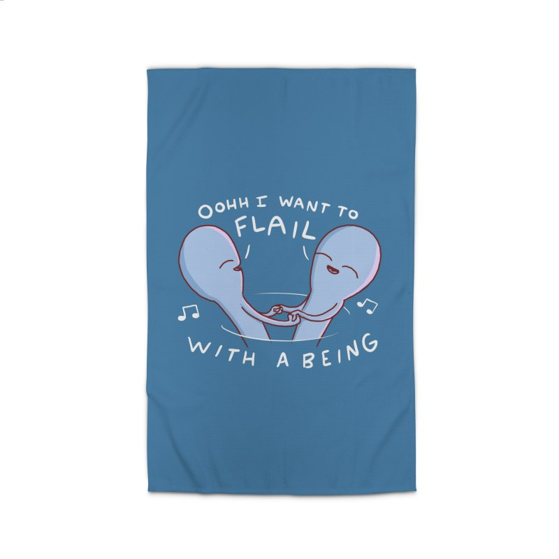 STRANGE PLANET SPECIAL PRODUCT: I WANT TO FLAIL WITH A BEING Home Rug by Nathan W Pyle
