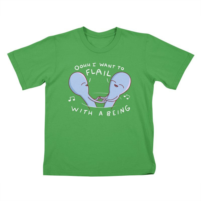 STRANGE PLANET SPECIAL PRODUCT: I WANT TO FLAIL WITH A BEING Kids T-Shirt by Nathan W Pyle
