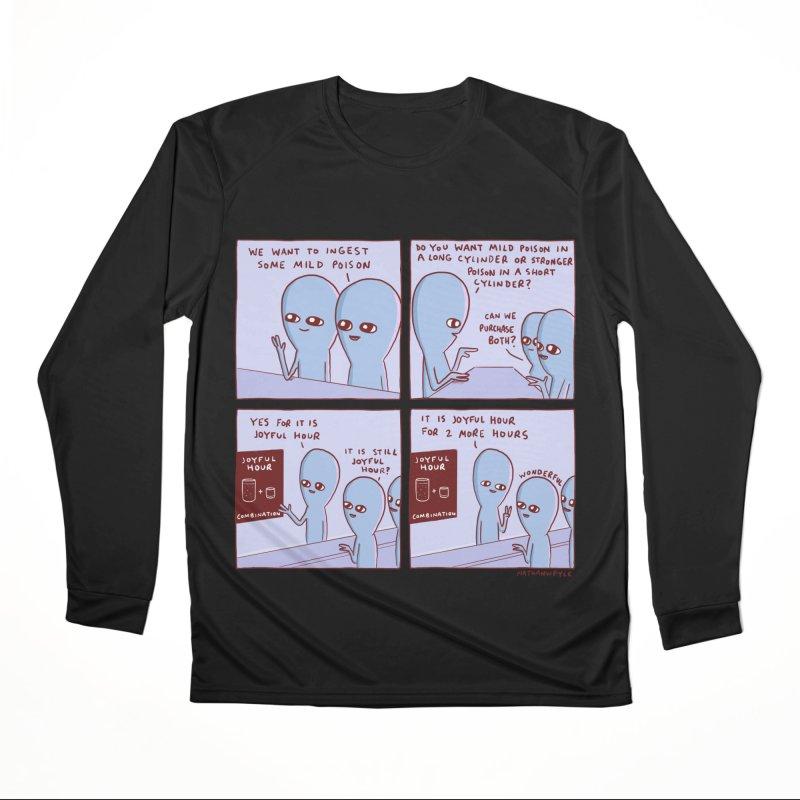 STRANGE PLANET: WE WANT TO INGEST SOME MILD POISON / JOYFUL HOUR Women's Performance Unisex Longsleeve T-Shirt by Nathan W Pyle