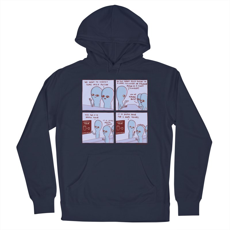 STRANGE PLANET: WE WANT TO INGEST SOME MILD POISON / JOYFUL HOUR Men's Pullover Hoody by Nathan W Pyle