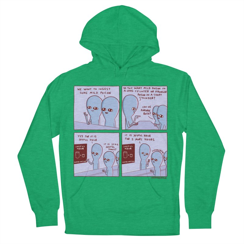 STRANGE PLANET: WE WANT TO INGEST SOME MILD POISON / JOYFUL HOUR Women's French Terry Pullover Hoody by Nathan W Pyle