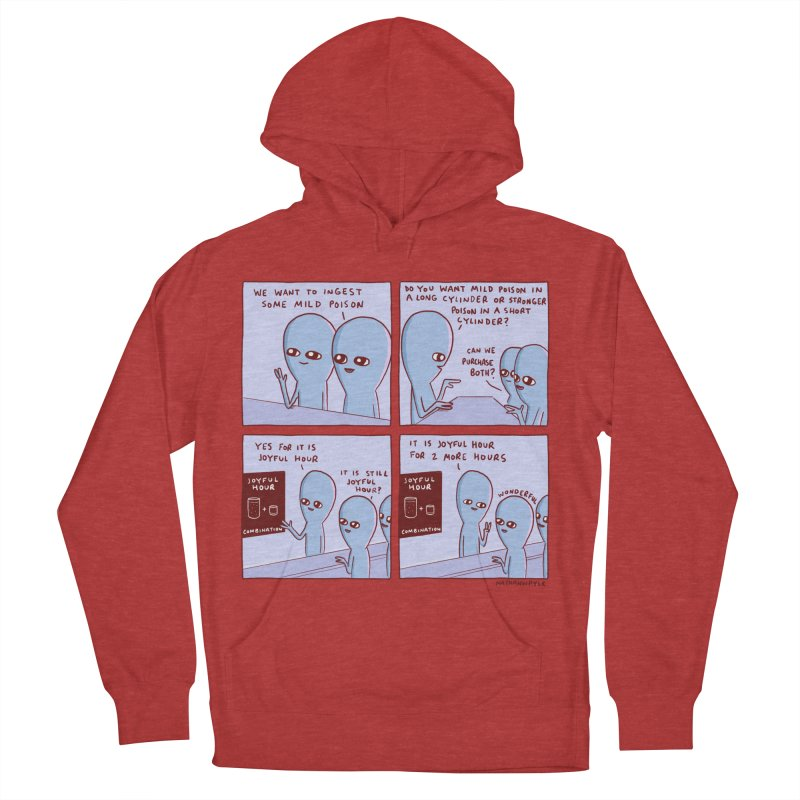 STRANGE PLANET: WE WANT TO INGEST SOME MILD POISON / JOYFUL HOUR Men's French Terry Pullover Hoody by Nathan W Pyle