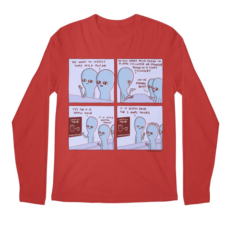 STRANGE PLANET: WE WANT TO INGEST SOME MILD POISON / JOYFUL HOUR Men's Longsleeve T-Shirt by Nathan W Pyle
