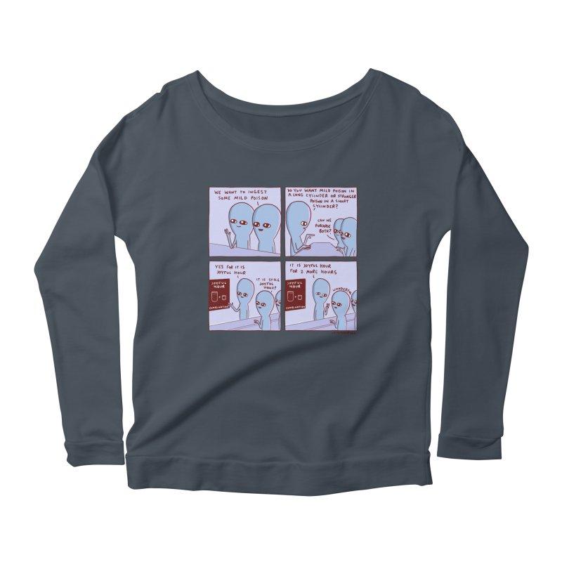 STRANGE PLANET: WE WANT TO INGEST SOME MILD POISON / JOYFUL HOUR Women's Scoop Neck Longsleeve T-Shirt by Nathan W Pyle