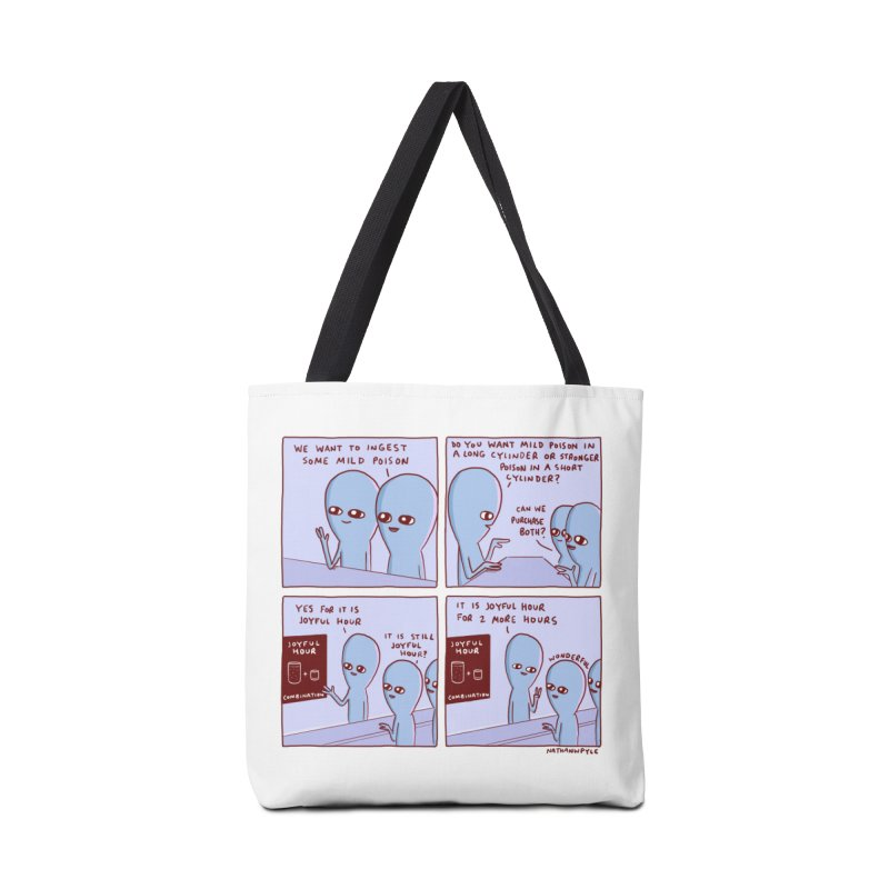 STRANGE PLANET: WE WANT TO INGEST SOME MILD POISON / JOYFUL HOUR Accessories Tote Bag Bag by Nathan W Pyle