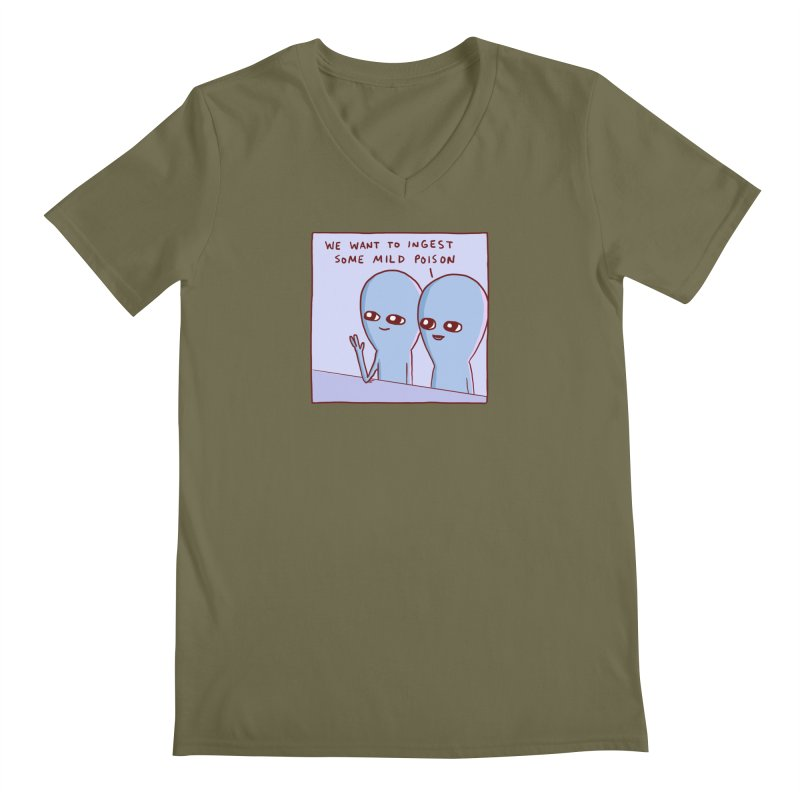 STRANGE PLANET SPECIAL PRODUCT: WE WANT TO INGEST SOME MILD POISON Men's Regular V-Neck by Nathan W Pyle
