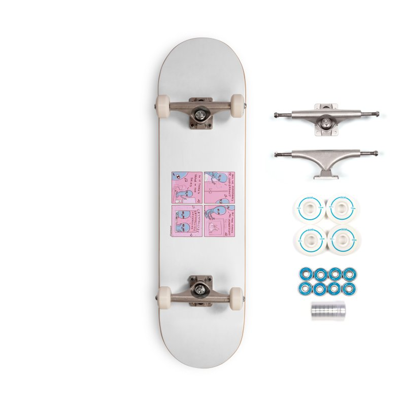 STRANGE PLANET: CRYSTALLIZE CRYSTALLIZE CRYSTALLIZE Accessories Complete - Basic Skateboard by Nathan W Pyle