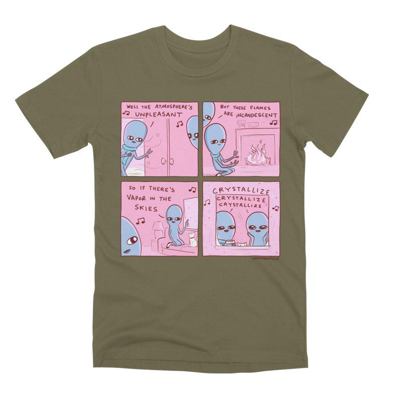 STRANGE PLANET: CRYSTALLIZE CRYSTALLIZE CRYSTALLIZE Men's T-Shirt by Nathan W Pyle Shop   Strange Planet Store   Thread