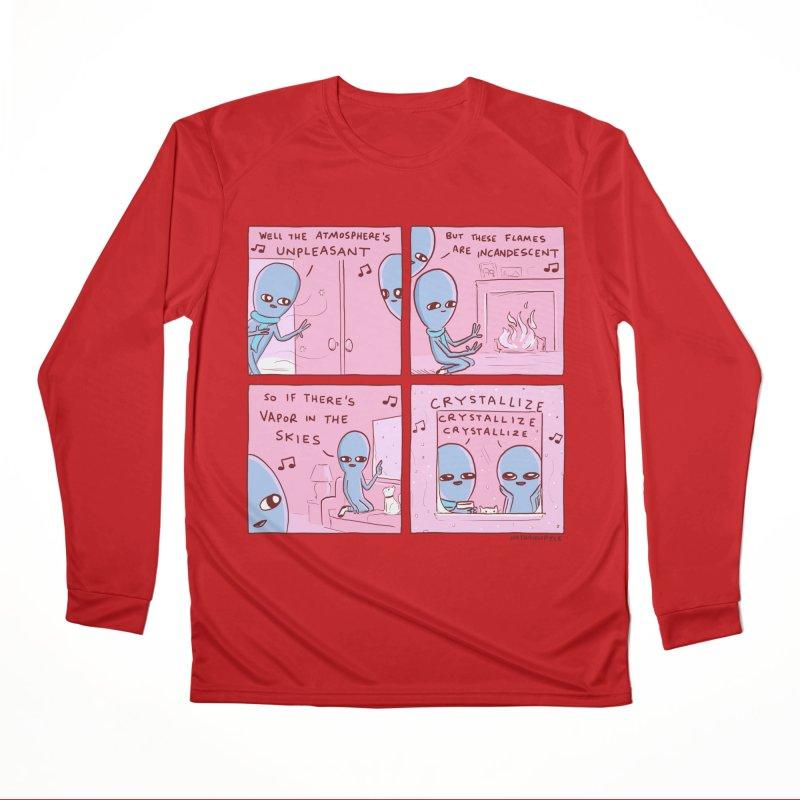 STRANGE PLANET: CRYSTALLIZE CRYSTALLIZE CRYSTALLIZE Women's Performance Unisex Longsleeve T-Shirt by Nathan W Pyle