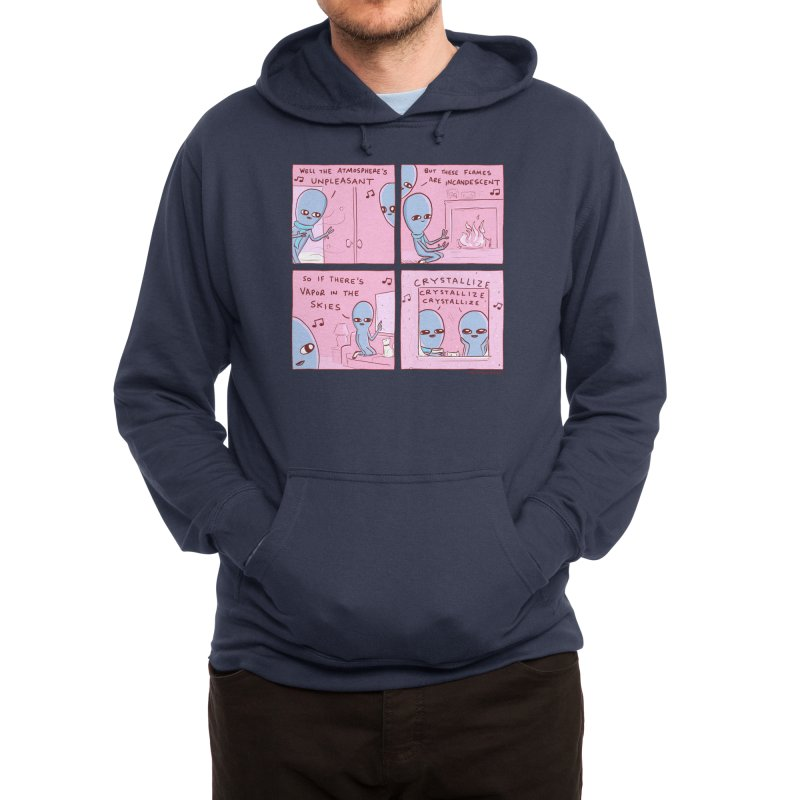 STRANGE PLANET: CRYSTALLIZE CRYSTALLIZE CRYSTALLIZE Men's Pullover Hoody by Nathan W Pyle
