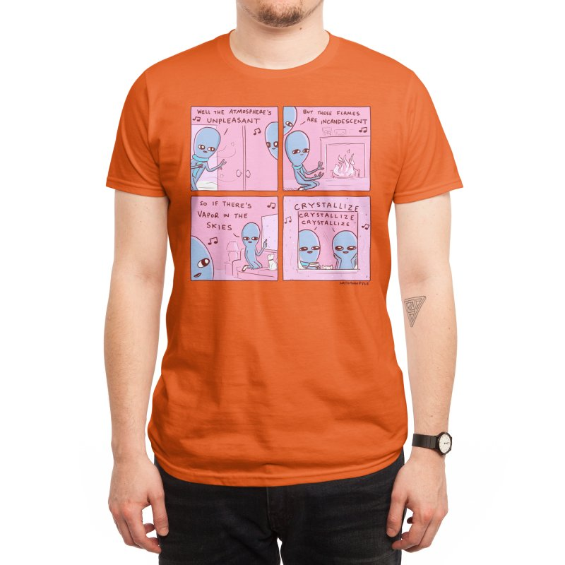 STRANGE PLANET: CRYSTALLIZE CRYSTALLIZE CRYSTALLIZE Men's T-Shirt by Nathan W Pyle