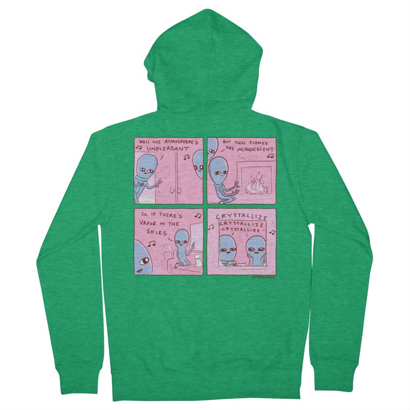 STRANGE PLANET: CRYSTALLIZE CRYSTALLIZE CRYSTALLIZE Women's Zip-Up Hoody by Nathan W Pyle