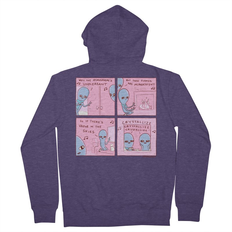 STRANGE PLANET: CRYSTALLIZE CRYSTALLIZE CRYSTALLIZE Men's Zip-Up Hoody by Nathan W Pyle