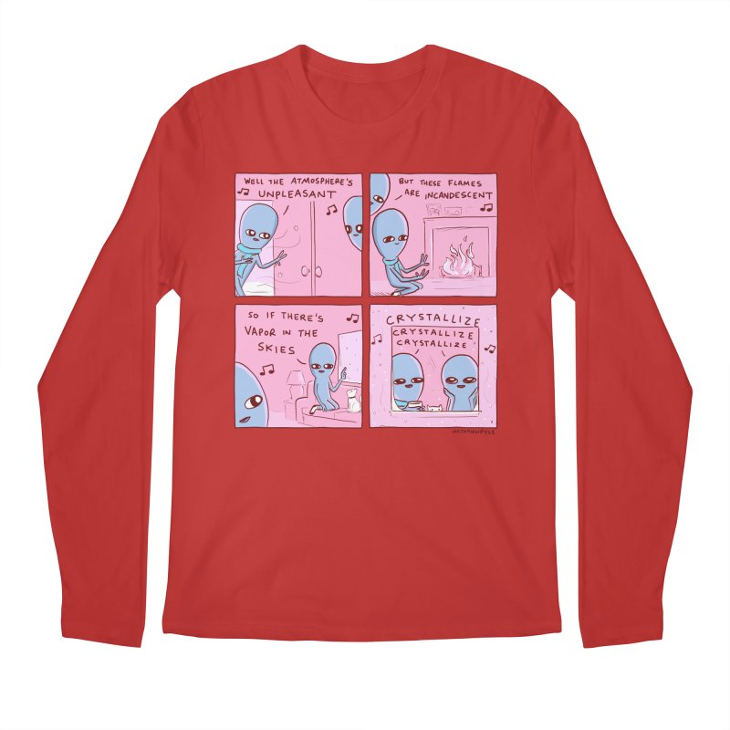STRANGE PLANET: CRYSTALLIZE CRYSTALLIZE CRYSTALLIZE Men's Regular Longsleeve T-Shirt by Nathan W Pyle