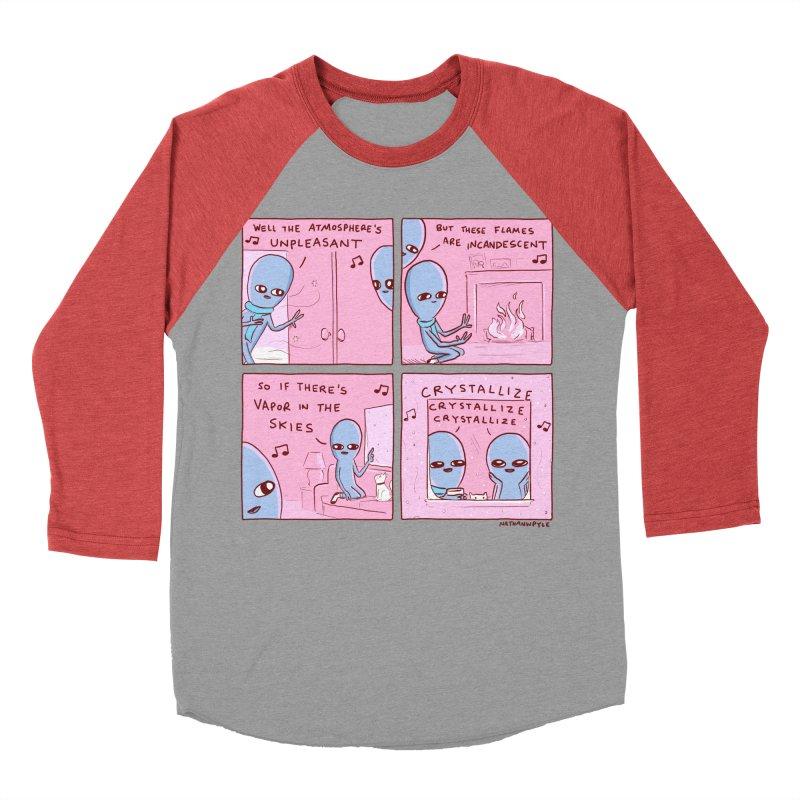 STRANGE PLANET: CRYSTALLIZE CRYSTALLIZE CRYSTALLIZE Women's Baseball Triblend Longsleeve T-Shirt by Nathan W Pyle