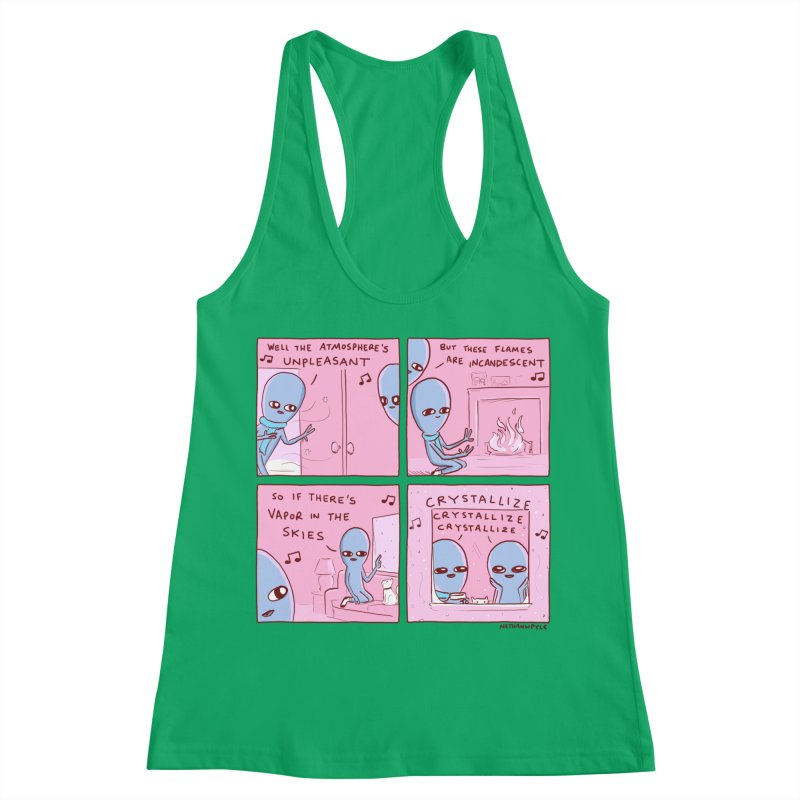 STRANGE PLANET: CRYSTALLIZE CRYSTALLIZE CRYSTALLIZE Women's Tank by Nathan W Pyle