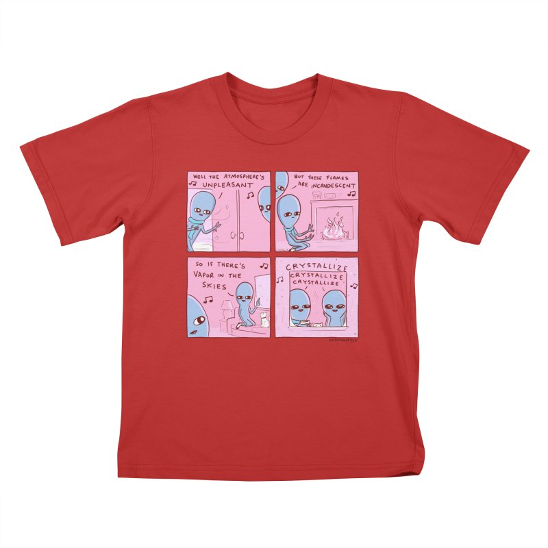 STRANGE PLANET: CRYSTALLIZE CRYSTALLIZE CRYSTALLIZE Kids T-Shirt by Nathan W Pyle