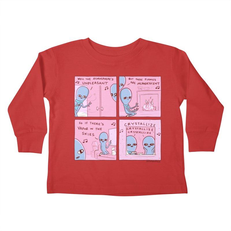 STRANGE PLANET: CRYSTALLIZE CRYSTALLIZE CRYSTALLIZE Kids Toddler Longsleeve T-Shirt by Nathan W Pyle Shop | Strange Planet Store | Thread