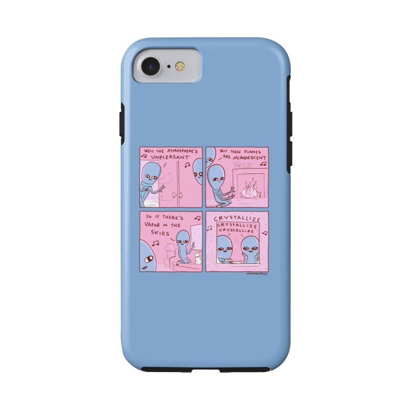 STRANGE PLANET: CRYSTALLIZE (BLUE BACKGROUND) Accessories Phone Case by Nathan W Pyle