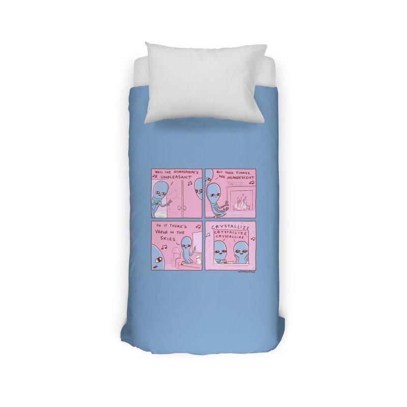 STRANGE PLANET: CRYSTALLIZE (BLUE BACKGROUND) Home Duvet by Nathan W Pyle