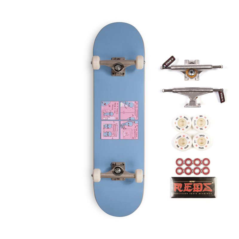 STRANGE PLANET: CRYSTALLIZE (BLUE BACKGROUND) Accessories Complete - Pro Skateboard by Nathan W Pyle