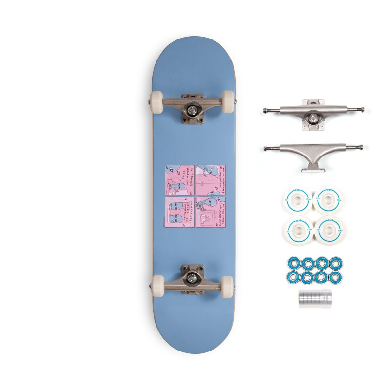STRANGE PLANET: CRYSTALLIZE (BLUE BACKGROUND) Accessories Complete - Basic Skateboard by Nathan W Pyle