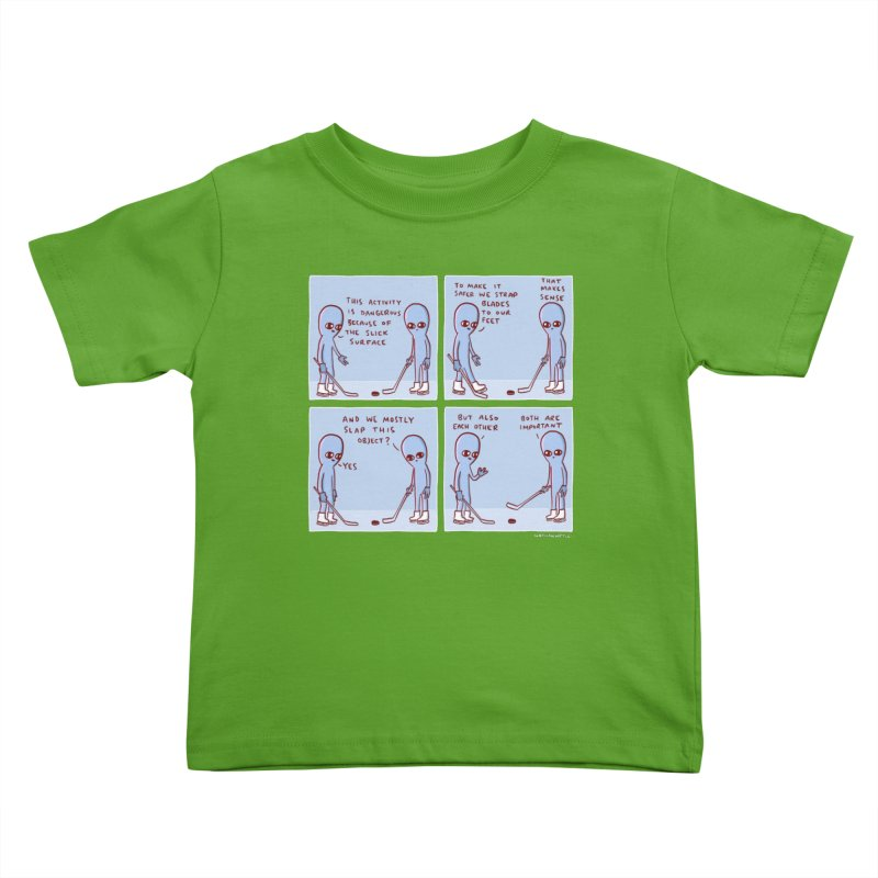 STRANGE PLANET: THIS ACTIVITY IS DANGEROUS BECAUSE OF THE SLICK SURFACE Kids Toddler T-Shirt by Nathan W Pyle Shop   Strange Planet Store   Thread