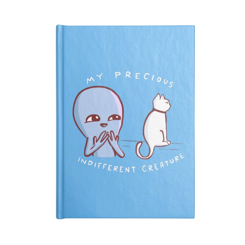 STRANGE PLANET SPECIAL PRODUCT: MY PRECIOUS INDIFFERENT CREATURE Accessories Lined Journal Notebook by Nathan W Pyle