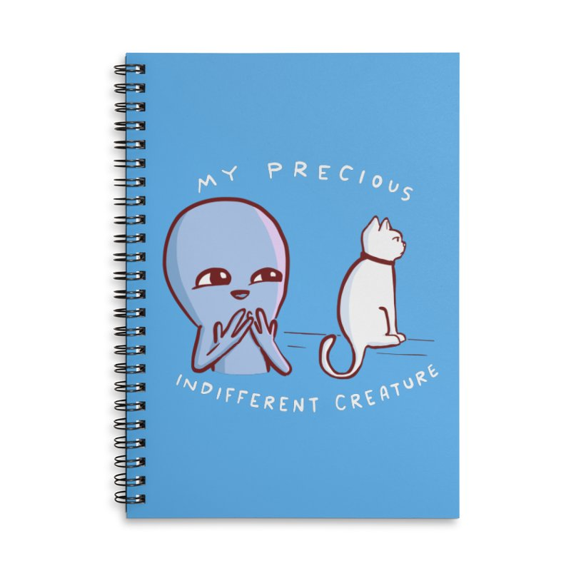 STRANGE PLANET SPECIAL PRODUCT: MY PRECIOUS INDIFFERENT CREATURE Accessories Lined Spiral Notebook by Nathan W Pyle