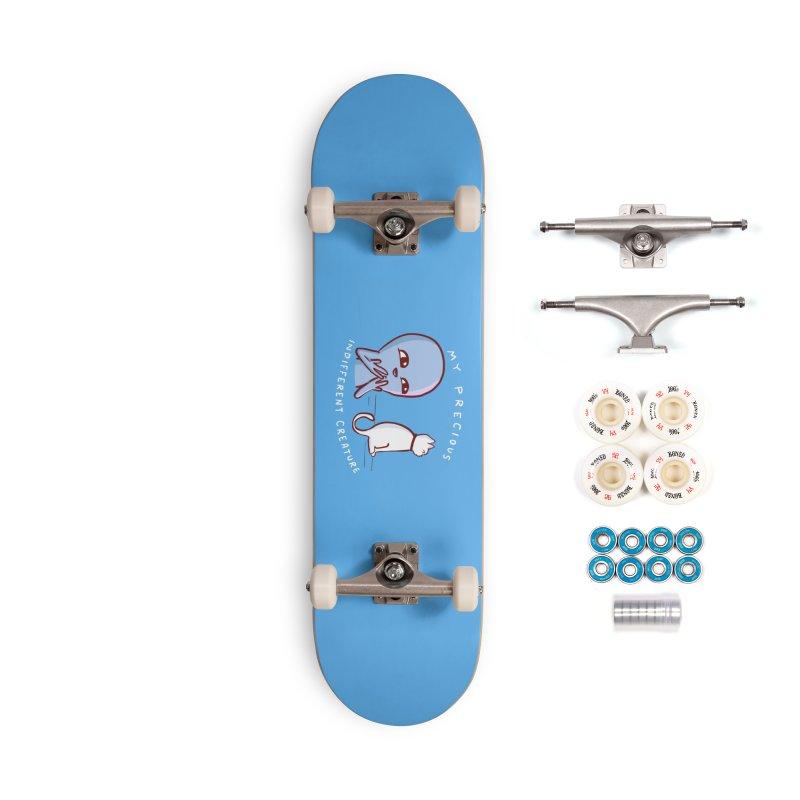 STRANGE PLANET SPECIAL PRODUCT: MY PRECIOUS INDIFFERENT CREATURE Accessories Complete - Premium Skateboard by Nathan W Pyle