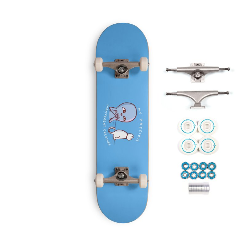 STRANGE PLANET SPECIAL PRODUCT: MY PRECIOUS INDIFFERENT CREATURE Accessories Skateboard by Nathan W Pyle